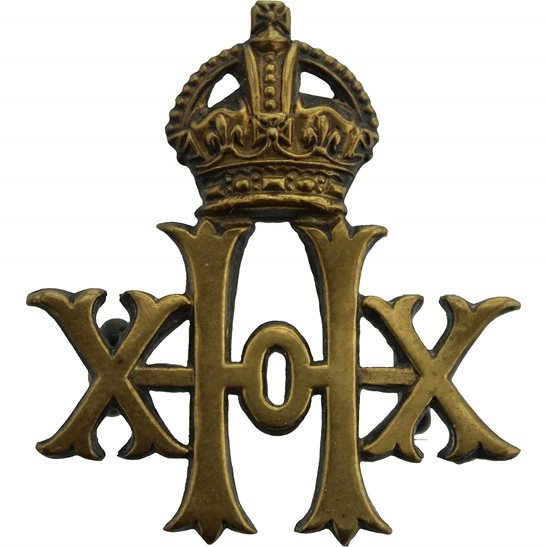 20th Hussars The 20th Hussars Regiment Collar Badge