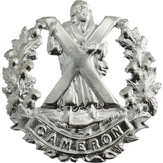 Cameron Highlanders Cameron Highlanders Regiment Staybrite Anodised Cap Badge - Staybright