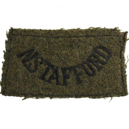 North Staffordshire WW2 North Staffordshire Regiment Cloth SLIP ON Shoulder Title Badge Flash