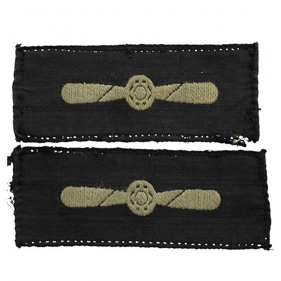 Royal Air Force RAF WW2 Royal Air Force RAF Leading Aircraftman LAC Cloth Insignia Rank Badge PAIR
