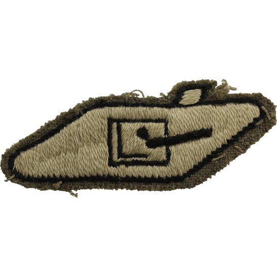 Royal Tank Regiment WW2 Royal Tank Regiment Armoured Corps Cloth Formation Sign Patch Badge