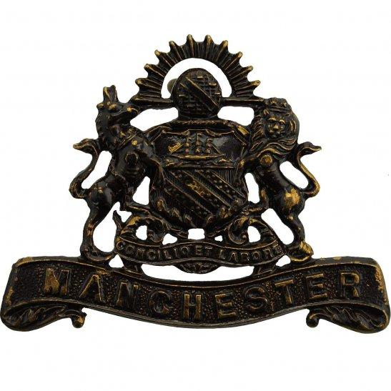 Manchester Regiment WW1 Manchester Regiment OFFICERS Bronze Collar Badge