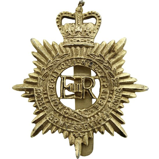 Royal Artillery Royal Army Service Corps RASC Staybrite Anodised Cap Badge - Staybright