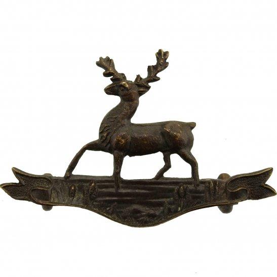 Hertfordshire Yeomanry Regiment OFFICERS Bronze Collar Badge