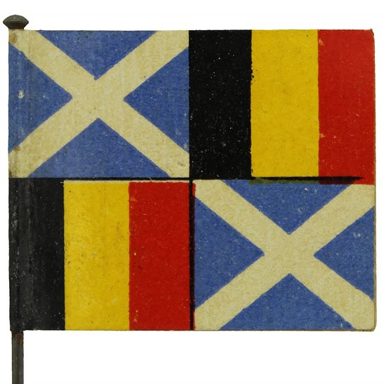WW1 Scottish Help Belgium War Effort Belgian Flag Day Fundraising Pin Badge
