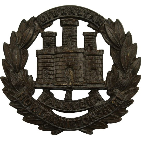 Northamptonshire Regiment Northamptonshire Regiment OFFICERS Bronze Collar Badge