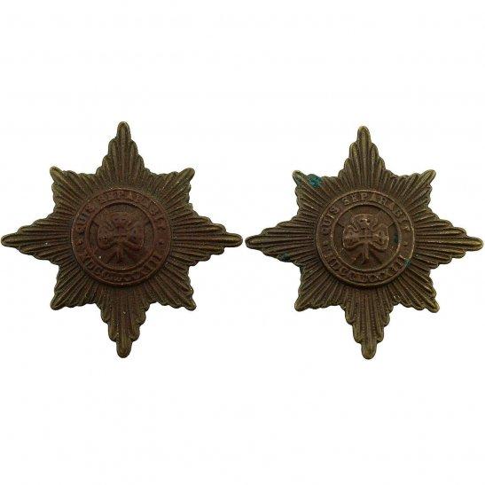 Irish Guards Irish Guards Regiment Collar Badge PAIR