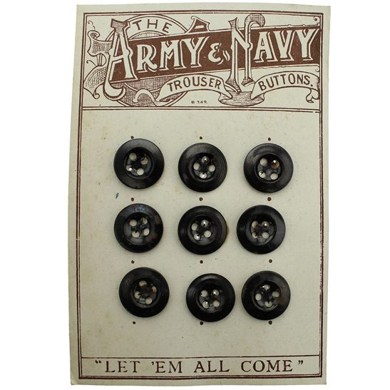 General Service 9x British Army & Navy Issued Soldier's Trousers and Shirt Buttons - 18mm