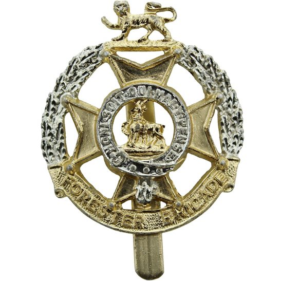The Forester Brigade Staybrite Anodised Cap Badge - Staybright