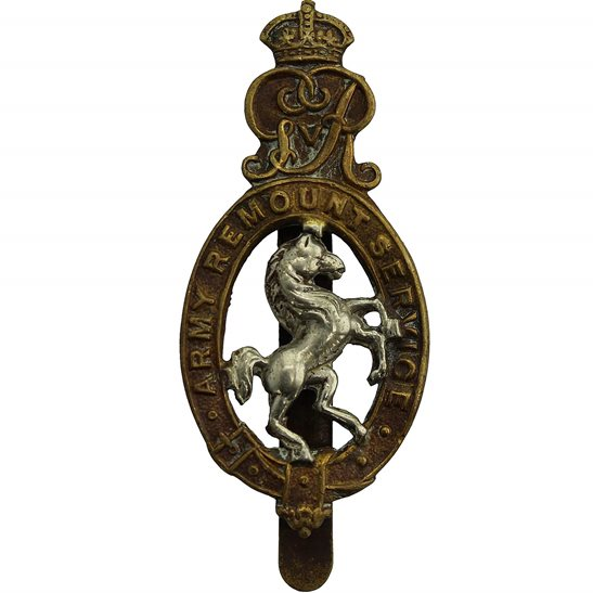 Army Remount Service WW1 Army Remount Service Corps Cap Badge - LAMBOURNE & CO Makers Mark