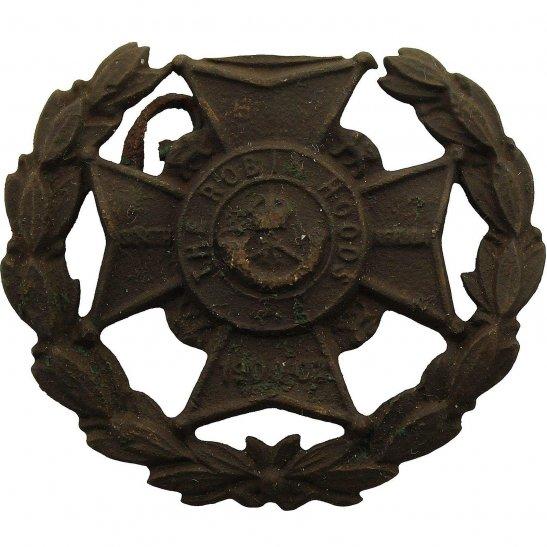 Notts & Derby UK Dug Detecting Find - 7th Robin Hoods Battalion Notts & Derby Relic Cap Badge