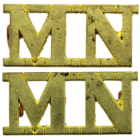 Merchant Navy WW2 Merchant Navy MN Naval Shoulder Title PAIR