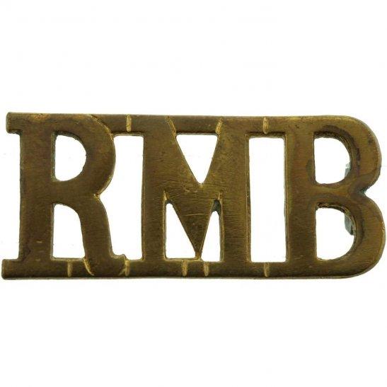 Royal Marines WW1 Royal Marines Band Corps RMB Shoulder Title