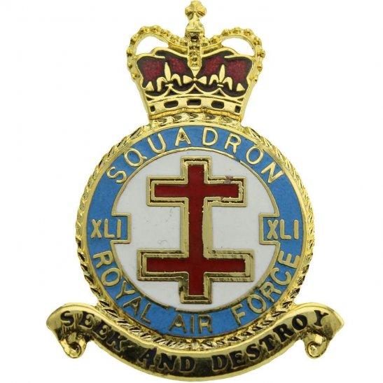 RAF Squadrons 41 XLI Squadron Royal Air Force PLAQUE Badge RAF