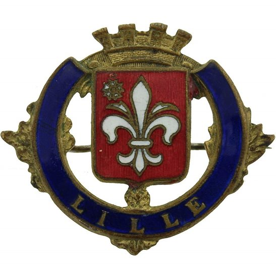 WW1 Lille Town / France Battlefield Sweetheart Brooch