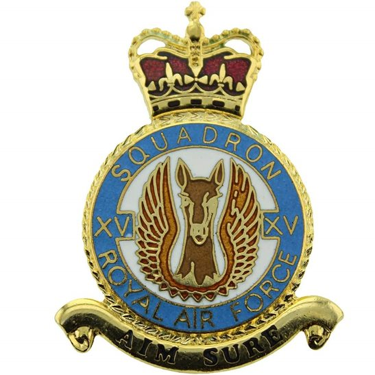 RAF Squadrons 15 XV Squadron Royal Air Force PLAQUE Badge RAF