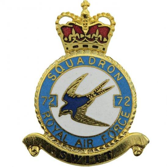 RAF Squadrons 72 Squadron Royal Air Force PLAQUE Badge RAF
