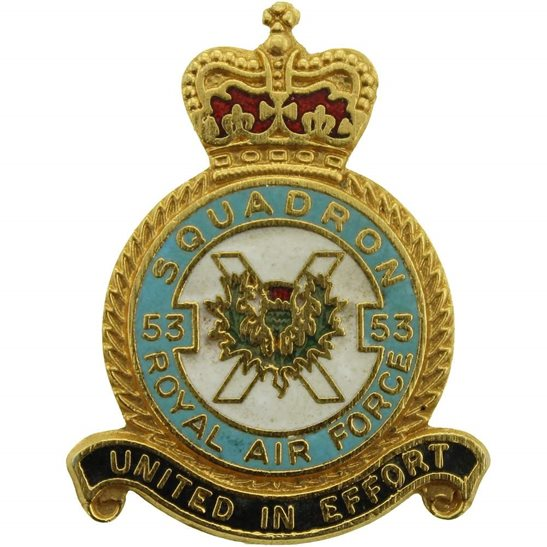 53 Squadron Royal Air Force Lapel Badge RAF