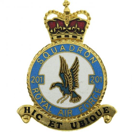 RAF Squadrons 201 Squadron Royal Air Force PLAQUE Badge RAF