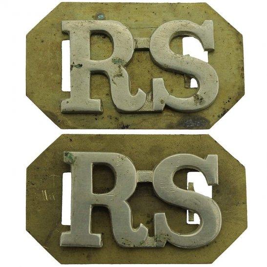 Royal Scots Royal Scots (Scottish) Regiment Shoulder Title PAIR