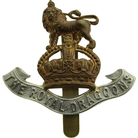 1st Royal Dragoons WW1 1st The Royal Dragoons Regiment Cap Badge