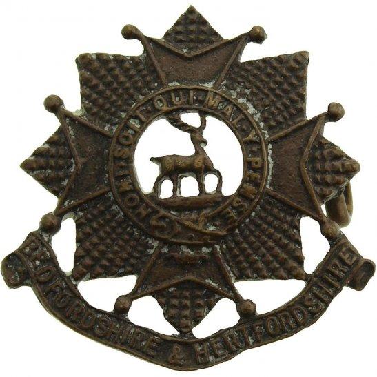 Bedfordshire and Hertfordshire WW2 Bedfordshire and Hertfordshire Regiment OFFICERS Bronze Collar Badge