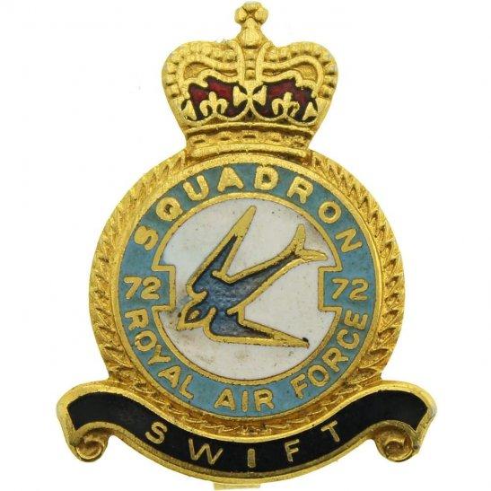RAF Squadrons 72 Squadron Royal Air Force RAF Lapel Badge