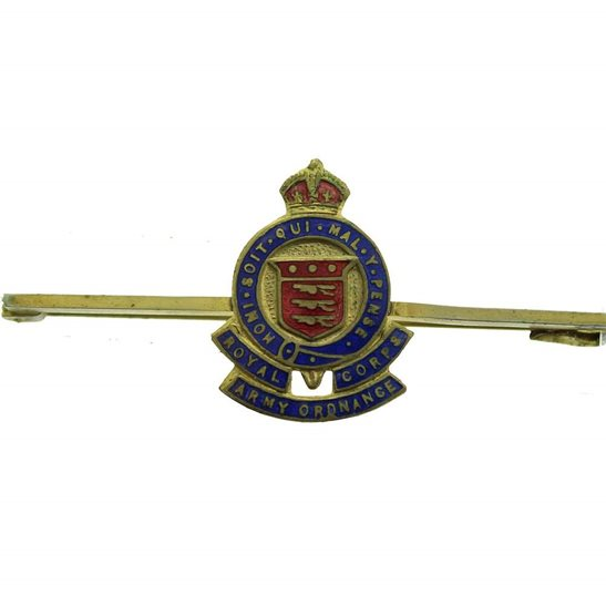 Royal Army Ordnance Corps RAOC WW2 Royal Army Ordnance Corps RAOC Sweetheart Brooch