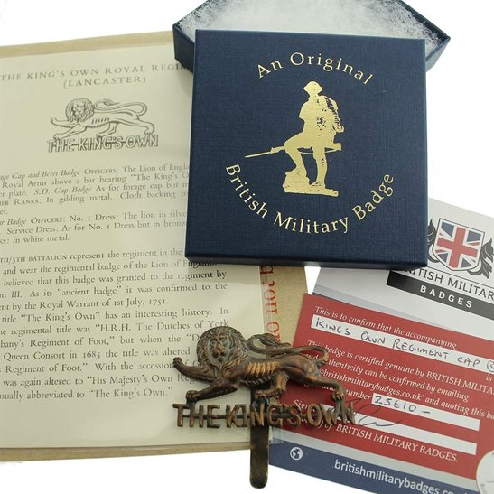 Kings Own Royal Lancaster Kings Own Royal Lancaster Regiment Cap Badge in Presentation & Gift Box