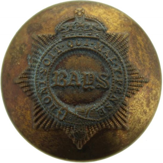 2nd Dragoon Guards 2nd Dragoon Guards (Queens Bays) Regiment Tunic Button - 26mm