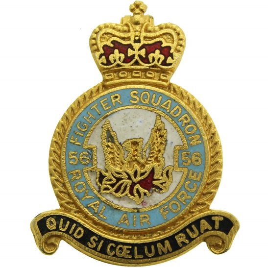 RAF Squadrons 56 Fighter Squadron Royal Air Force RAF Lapel Badge