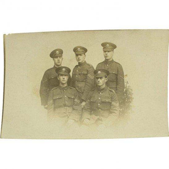 Duke of Cornwalls Light Infantry WW1 Photo Group of Duke of Cornwalls Light Infantry Regiment NCO Soldiers