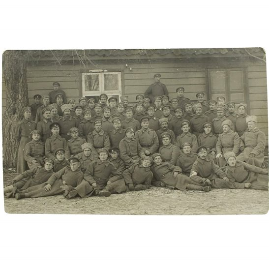 WW1 Photo - Group of Imperial Russian Soldiers on Eastern Front