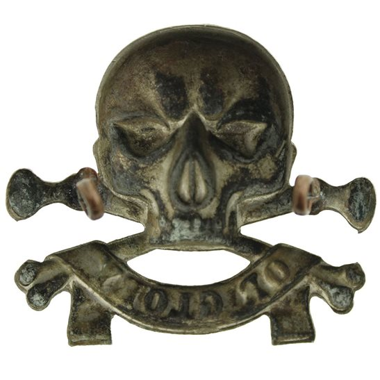 additional image for WW1 17th / 21st Lancers (Deaths Head) Regiment Cap Badge - LUGS VERSION