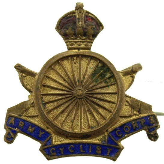Army Cyclist Corps WW1 Army Cyclist Corps (Cyclists) Sweetheart Brooch Badge