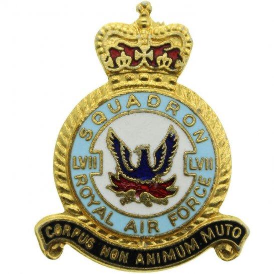 RAF Squadrons 57 (LVII)  Squadron Royal Air Force RAF Lapel Badge