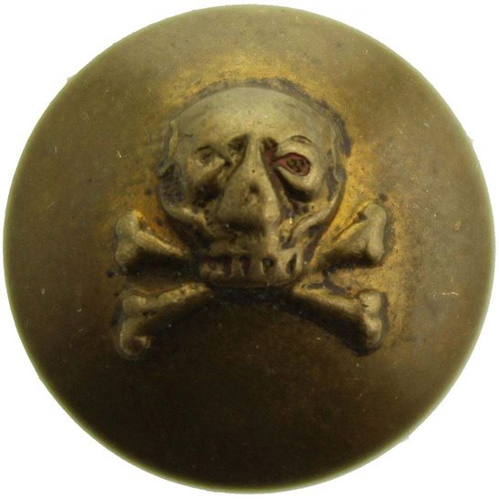 17th / 21st Lancers WW1 17th Lancers Regiment DEATHS HEAD Small Tunic Button - 16mm