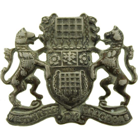 Westminster Dragoons Westminster Dragoons Regiment Collar Badge