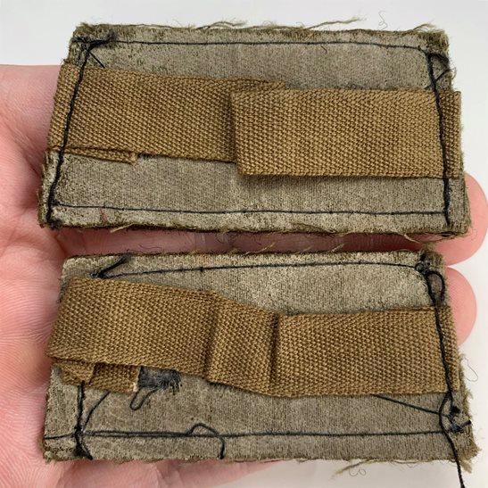 additional image for WW2 Royal Army Ordnance Corps RAOC Cloth SLIP ON Shoulder Title Badge Flash
