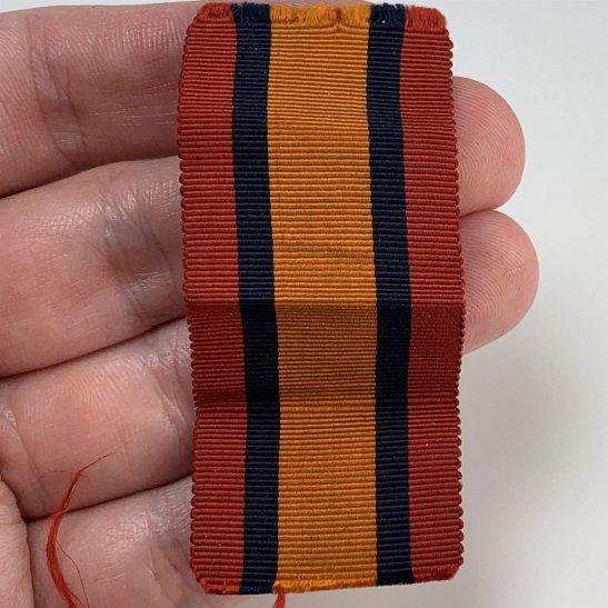 Boer War Spare Queens South Africa QSA Medal SILK Ribbon - 3.25 Inches