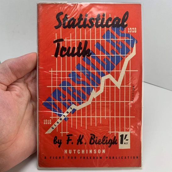 WW1 Pamphlet - Statistical Truth Germany & The Treaty of Versailles Book 1928