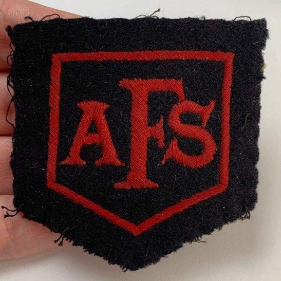 Auxiliary Fire Service WW2 Auxiliary Fire Service Brigade AFS Cloth Formation Patch Insignia Badge