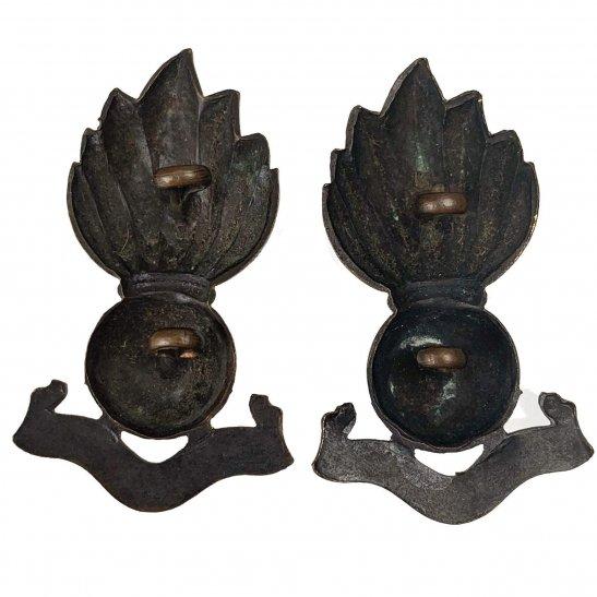 additional image for Royal Artillery Regiment OFFICERS Bronze Collar Badge PAIR