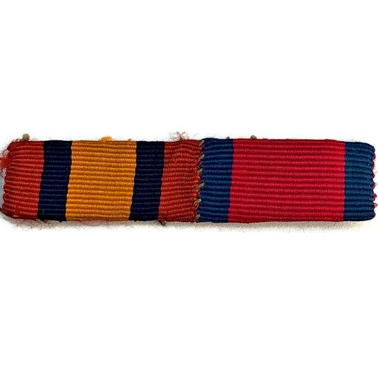 Boer War Queens South Africa QSA & Distinguished Service Order DSO Medal Ribbon Bar - SEW ON