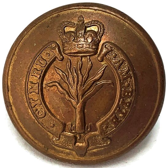 Welsh Guards Welsh Guards Regiment (Welch) Tunic Button Queens Crown - 26mm