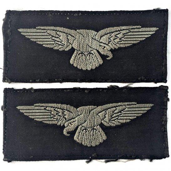 Royal Air Force RAF WW2 Royal Air Force RAF Albatross Cloth Shoulder Title Badge Flash PAIR