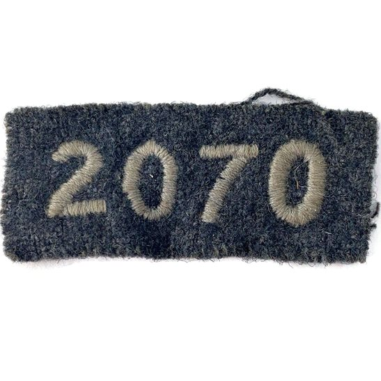 Royal Air Force RAF Air Training Corps 2070 Squadron Royal Air Force RAF Cloth Shoulder Title Badge