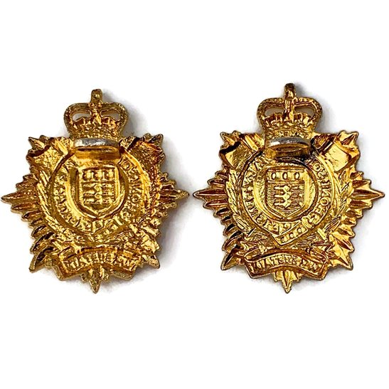 additional image for Royal Logistics Corps OFFICERS Logistic Collar Badge - Queens Crown