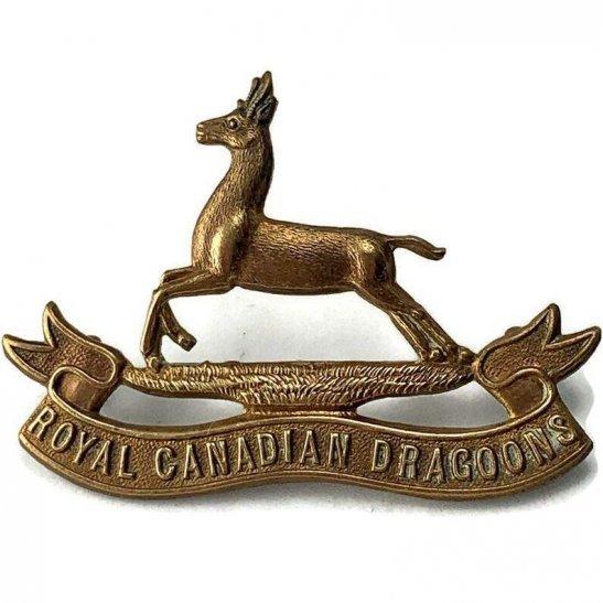 WW2 Canadian Army WW2 Royal Canadian Dragoons Regiment of Canada Cap Badge