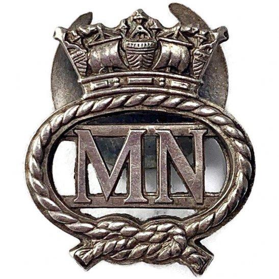 Merchant Navy WW2 Merchant Navy On War Service Silver Lapel Badge
